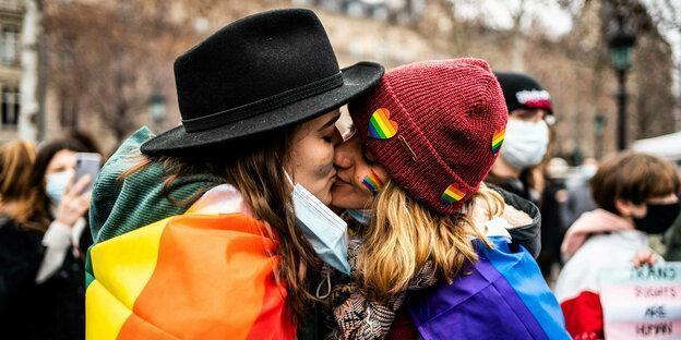 PARIS - SOCIAL - MARCH AGAINST LGBTIAPHOBIA January 31, 2021, Paris (75), FRANCE. Photography by Xose Bouzas / Hans Luca
